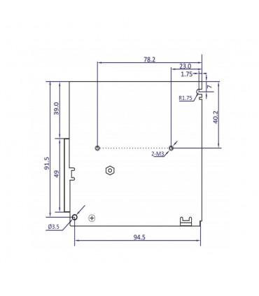 POS modular power supply POS-75-12-C 72W 6A - size 2