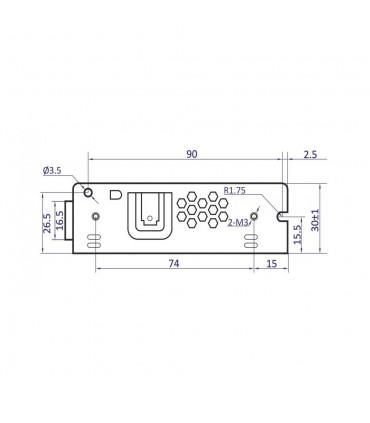 POS modular power supply POS-75-12-C 72W 6A - size 3