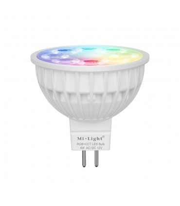 Mi-Light 4W MR16 RGB+CCT LED spotlight FUT104 - colours