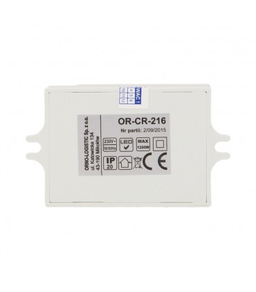 ORNO microwave motion sensor MINI 1200W 360° IP20 OR-CR-216 white - bottom