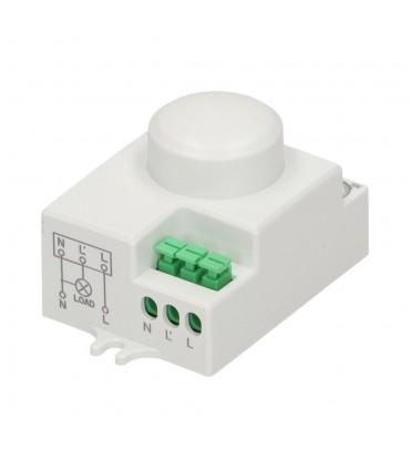 ORNO microwave motion sensor MINI 1200W 360° IP20 OR-CR-216 white - connectors