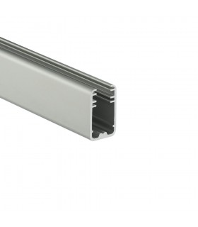 TOPMET anodised aluminium glass LED profile MIKRO-LINE12 silver