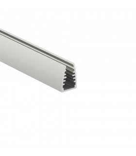 TOPMET anodised aluminium glass LED profile MIKRO10 silver