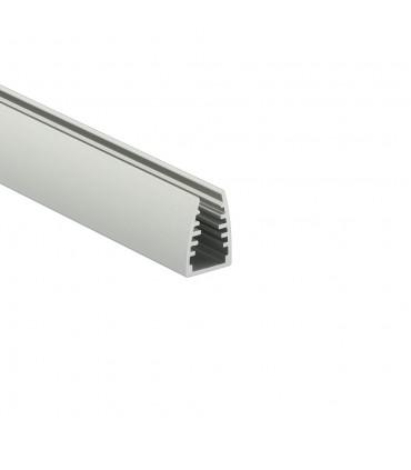 TOPMET anodised aluminium glass LED profile MIKRO10 silver