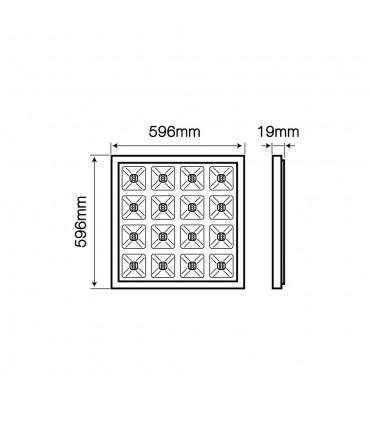 LED line® DIUNA square LED panel 60x60 27W neutral white - size