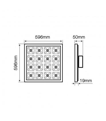 LED line® DIORA square LED panel 60x60 15-36W neutral white - size