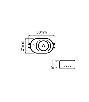 LED line® OPTO advertising LED module SMD2835 12V 1W cold white - size
