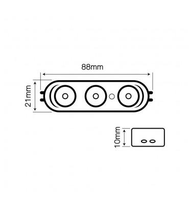 LED line® OPTO advertising LED module SMD2835 12V 2.5W cold white - size