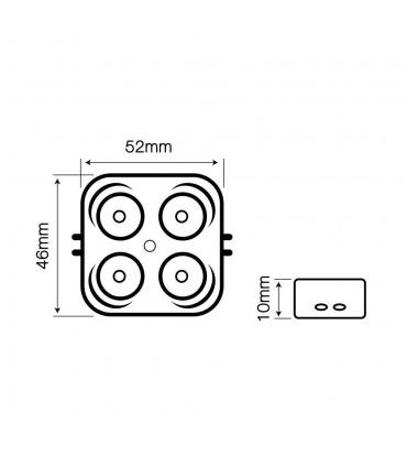 LED line® OPTO advertising LED module SMD2835 12V 3W cold white