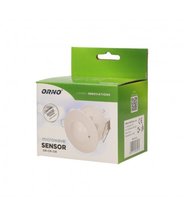 ORNO microwave motion sensor OR-CR-218 1200W 360° IP20 - packaging