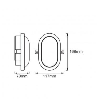 LEDOM wall outdoor bulkhead oval 6W