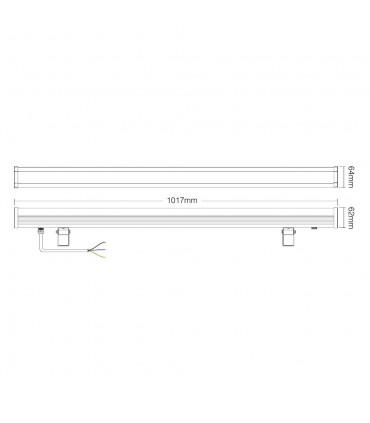 Mi-Light 24W RGB+CCT LED wall washer light RL1-24 - size