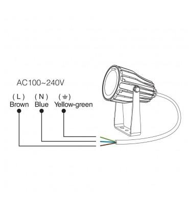 Mi-Light 6W RGB+CCT smart LED garden lamp FUTC04 - connection diagram
