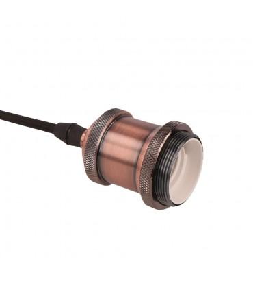 LED line® E27 single pendant ceiling light fittings - antique copper holder