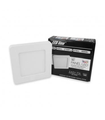 LED line ® EasyFix square panel downlights - 6W warm white