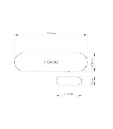 FIBARO Z-Wave Plus door and window opening sensor - size