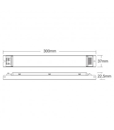Mi-Light 40W RGB+CCT panel light driver PL5 - size