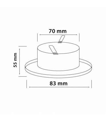 LED line® MR16 waterproof round recessed ceiling downlight IP65 - size