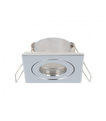 LED line® MR11 square waterproof ceiling downlight IP44 chrome - side