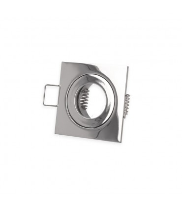 LED line® MR11 square waterproof ceiling downlight IP44 chrome - front