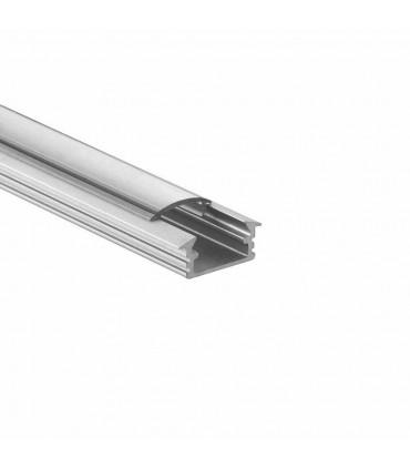 ALU-LED 1m recessed aluminium LED profile P1 silver - clear