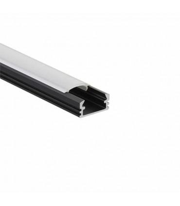 ALU-LED 1m surface aluminium LED profile P2 - black milky