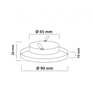 LED line® MR16 single glass recessed ceiling downlights - round size