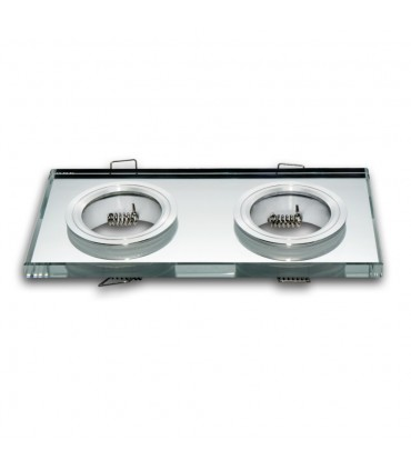 LED line® MR16 double glass recessed ceiling downlights - silver
