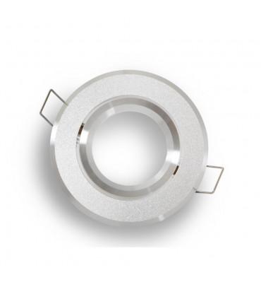 LED line® MR16 round adjustable downlights - sandblasted silver