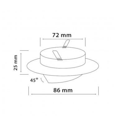 LED line® MR16 round adjustable downlights - size