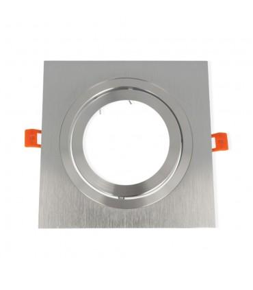 LED line® AR111 square adjustable single ceiling downlights - silver
