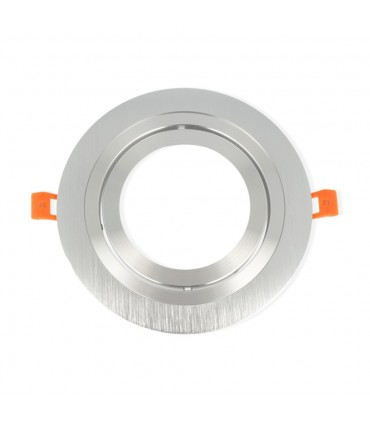LED line® AR111 round adjustable single ceiling downlights - silver