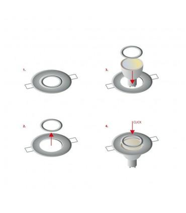 LED line® MR11 recessed adjustable ceiling downlights - bulb installation