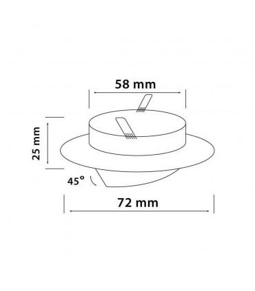 LED line® MR11 recessed adjustable ceiling downlights - size