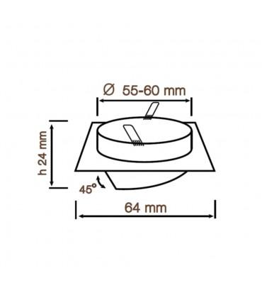 LED line® MR11 square adjustable ceiling downlights - size