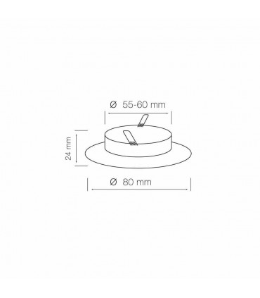 LED line® MR16 flat recessed ceiling downlights - size
