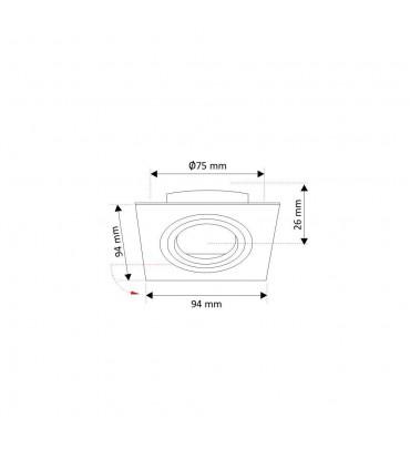 Design Light GU10 square adjustable downlight COSTA -