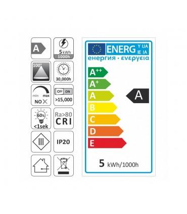 Design Light GU10 LED light bulb SMD 5W - label