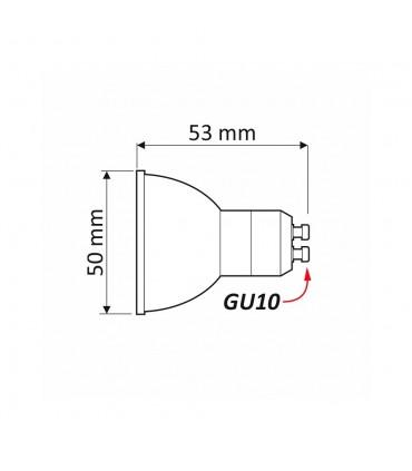 Design Light GU10 LED light bulb SMD 5W - size