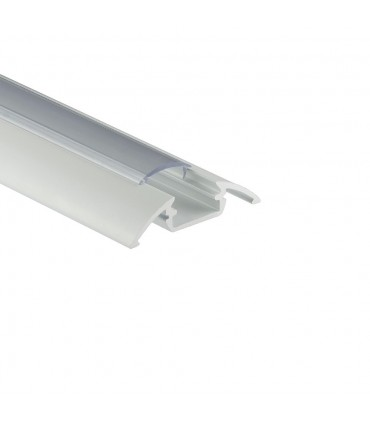 ALU-LED 1m surface aluminium LED profile P4 - white transparent