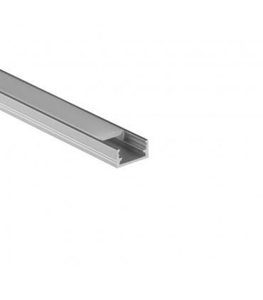 Design Light 1m surface LED profile LINE MINI - silver - milky diffuser
