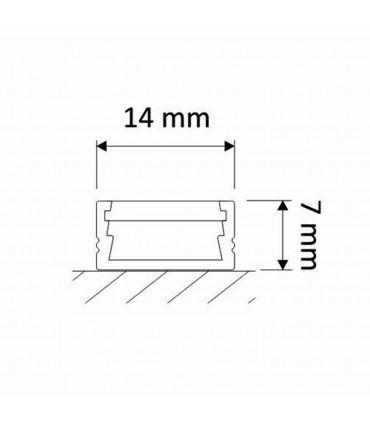 Design Light 1m surface LED profile LINE MINI - size