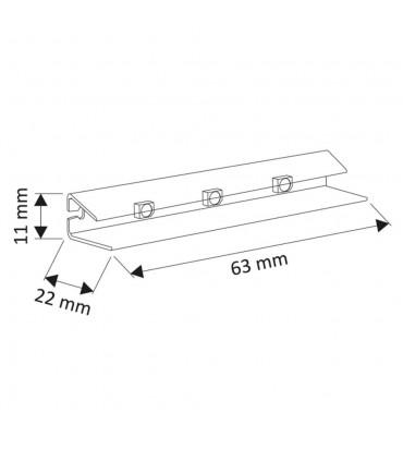 Design Light PVC single colour LED clips for glass shelving - size