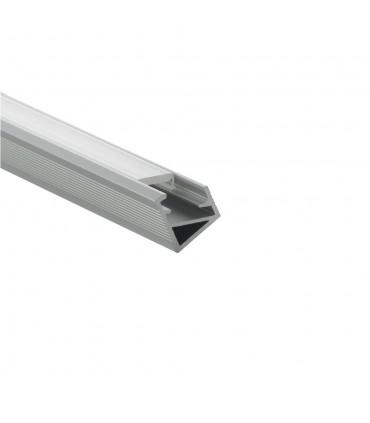 Design Light 1m corner LED profile TRI-LINE MINI silver milky