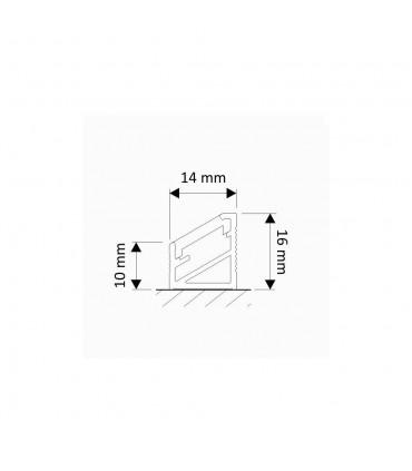 Design Light 1m corner LED profile TRI-LINE MINI - size