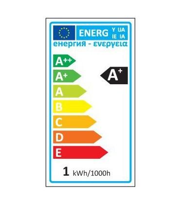 LEDOM GU10 spotlight bulb 1W SMD 80lm - energy rating label