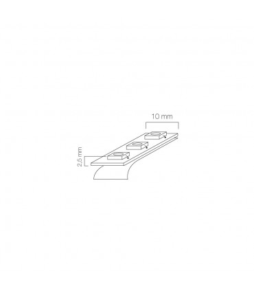 LED line® single colour LED strip 3528 SMD 150 LED 12V IP20 - size