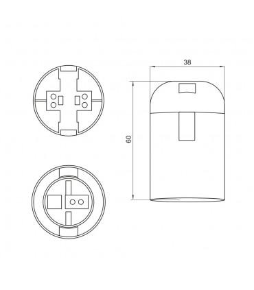 POLMARKE27 lamp holder white - size