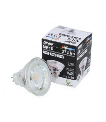 LED line® MR16 glass LED spotlight bulb 12V 3W - warm white