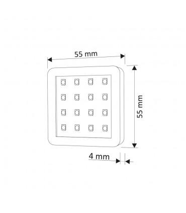 Design Light under cabinet SQUARE LED light 1.5W size
